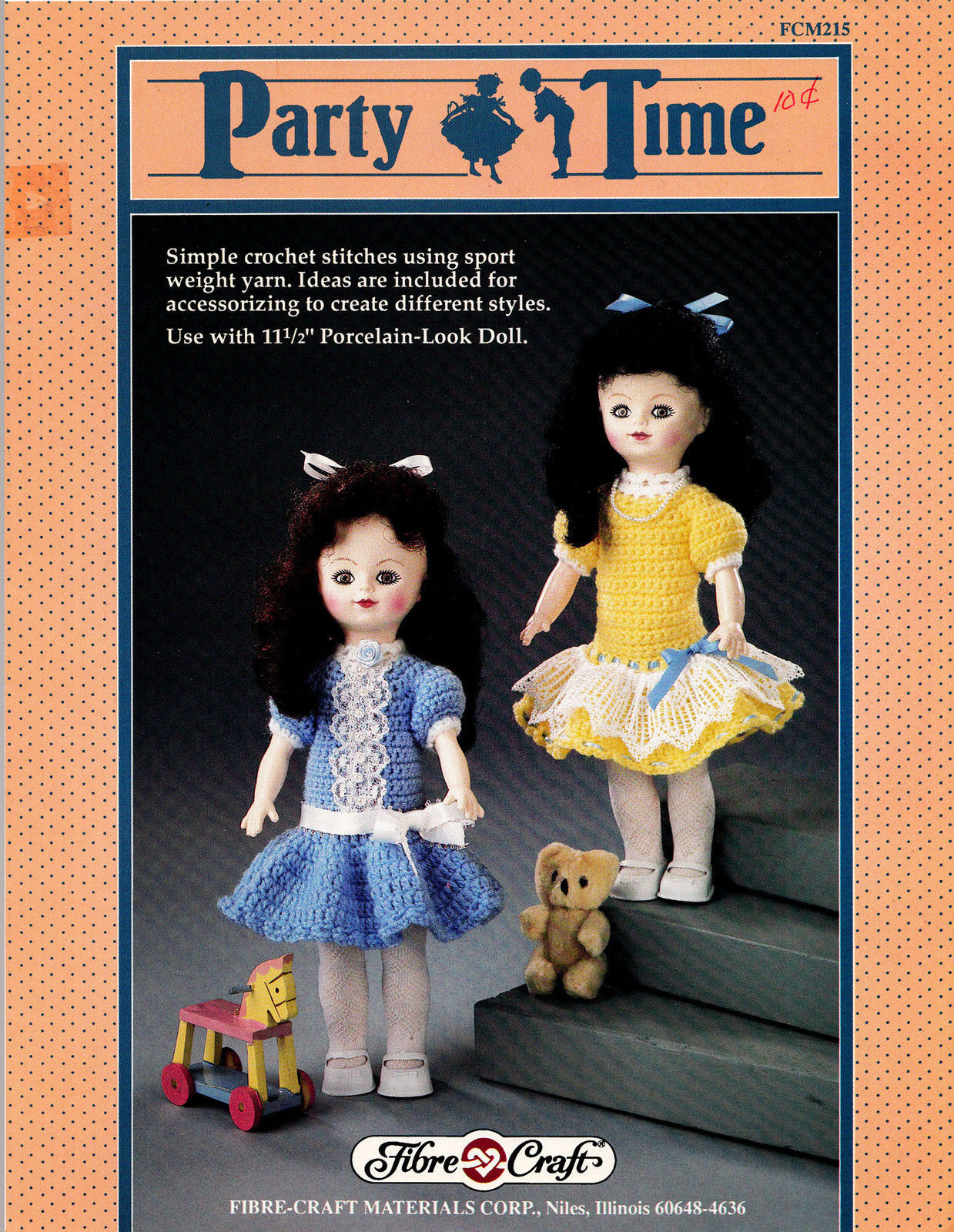Crochet Party Time Fibre Craft 11 5 Doll And 50 Similar Items