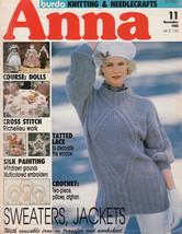 ANNA BURDA KNITTING NEEDLECRAFT SEWING CROCHET 1988 #11 NOV. DOLLS VINT ... - $9.98