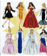 BARBIE DOLL SOLO IN SPOTLIGHT SHEATH-WEDDING-GYPSY PATTERN McCALL 8552 UNCUT - $14.98