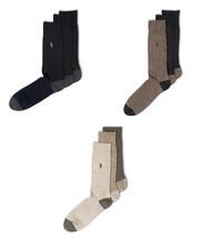 Polo Ralph Lauren Men's Socks, Soft Touch Ribbed Heel Toe 3 Pack Size 10-13 - $16.95