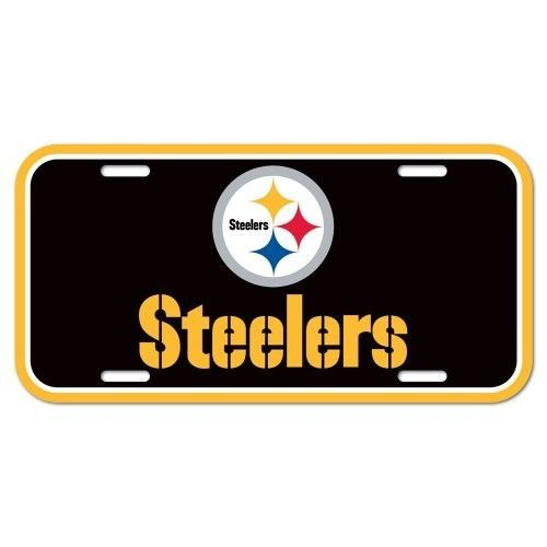 PITTSBURGH STEELERS TEAM LOGO CAR AUTO LICENSE PLATE TAG NFL FOOTBALL