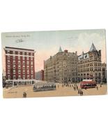 York PA Center Square Trolleys Valentine & Sons Vintage Postcard  - $4.99