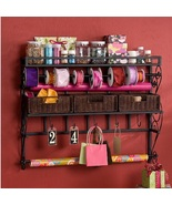 Ribbon Rack Gift Wrap Storage Wall Mounted Wrapping Paper Craft Organize... - $111.49