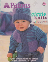 Patons Giggle Knits For Babies & Toddlers #927 Unisex 3 Months To 2 Years Kids - $8.98