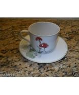 Block Geranium Watercolors Cup and Saucer Set Mary Lou Goertzen - $11.83