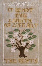 A Life Well Lived cross stitch chart Misty Hill Studio - $9.00