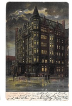 York PA Colonial Hotel Night UDB Postcard Illustrated Post Card Co  - $4.99
