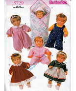 "COMPLETE BABY DOLL WARDROBE OUTFITS 14"" - 18"" BUTTERICK 5729 PATTERN OOP... - $13.98"