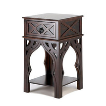 Ornate Moroccan Style Brown Table - $134.21