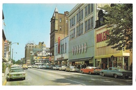 York PA Market St Looking East Business District Postcard Adlers Bears M... - $8.99