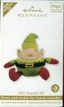 2011 Hallmark Keepsake Ornament - Magic Sounds - SILLY SOUNDS ELF - Fabric  - $4.94