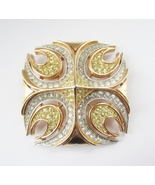 Trifari Pave Cross Runway Couture Brooch c. 1960s - $135.00