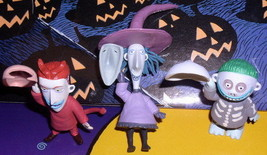 Lock Shock & Barrel Nightmare Before Christmas3 PVC NMBC Figurines - $24.18