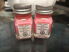 TESTORS PAINT GLOSSY ORANGE ENAMEL 1/4oz JAR 7.4ml plastic model car TES... - $6.92