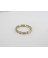 Vintage Sterling Silver True Love Band Ring Size 6.5 - $25.00