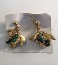Vintage Rudy Levy Fifth Avenue Gemstone Screwback Earrings New Old Stock - $26.07