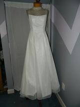 Mori Lee size 10 White Wedding Prom Pageant Cruise Party dress beaded NWOT - $129.99