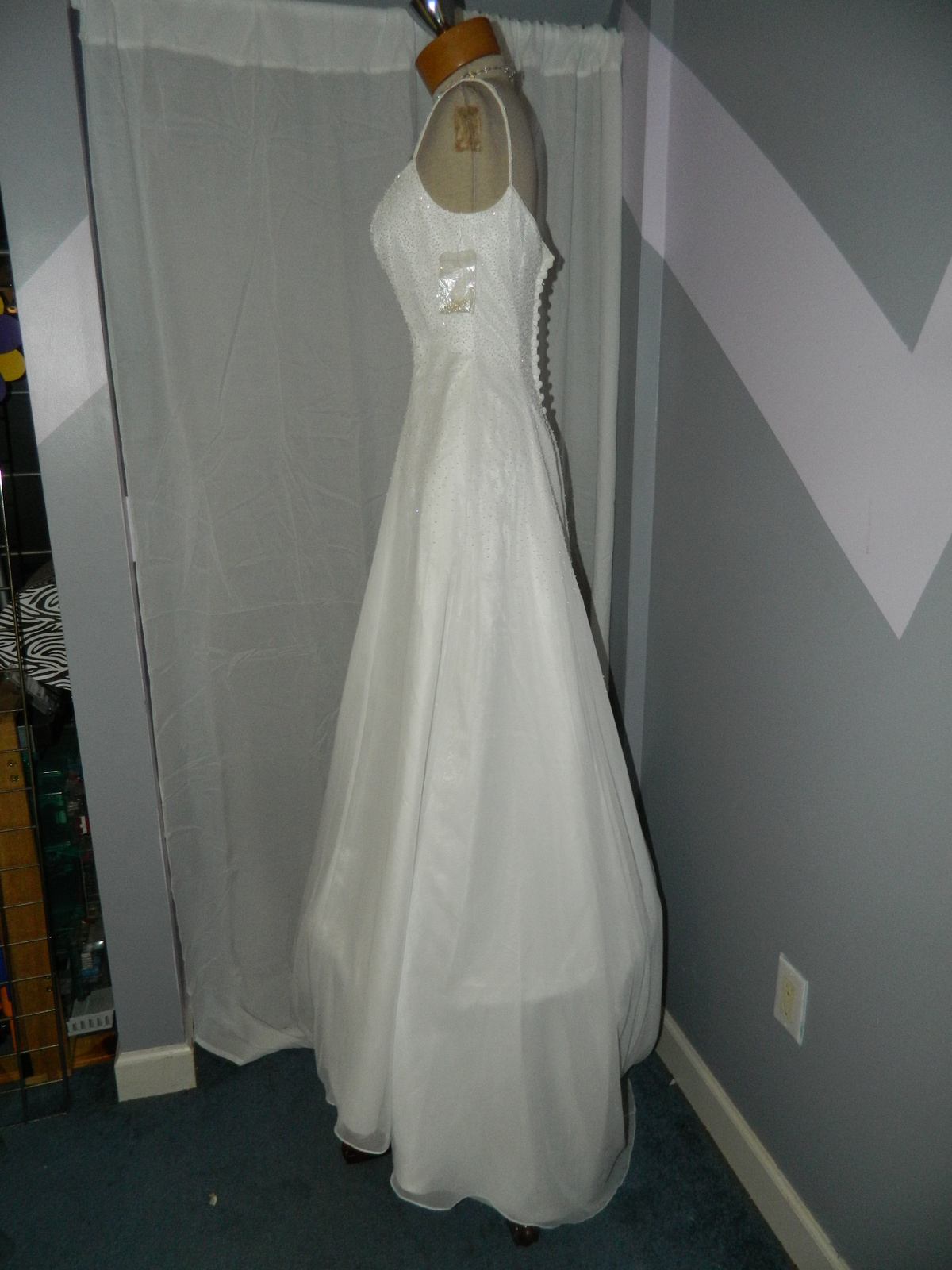 Mori Lee size 10 White Wedding Prom Pageant Cruise Party dress beaded NWOT