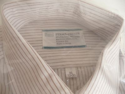 a714179f20f Vintage NWT Sears Perma-Prest Brown Striped and 36 similar items