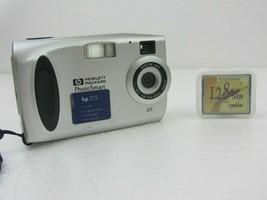 HP PhotoSmart HP 215 1.3MP Digital Camera W/ 128MB Compact Flash Card - Silver - $20.00