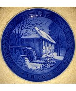 Royal Copenhagen Christmas Plate - 1976 Vibaek Water Mill - $40.49