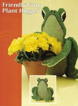 Plastic Canvas Frog Tissue Box Cover Plant Holder Coasters Patterns - $7.99