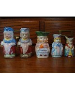 5 Vintage Tiny Toby Mugs /Jugs made in Japan - $9.89
