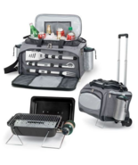 PicNic Time Vulcan Tailgating Kit with Trolley Black with Gray and Silver - $239.97