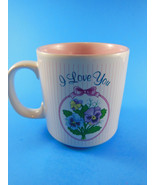 I Love You Great Mothers Day Gift Mug coffee tea Cup  Russ Berrie Vintage - $6.23