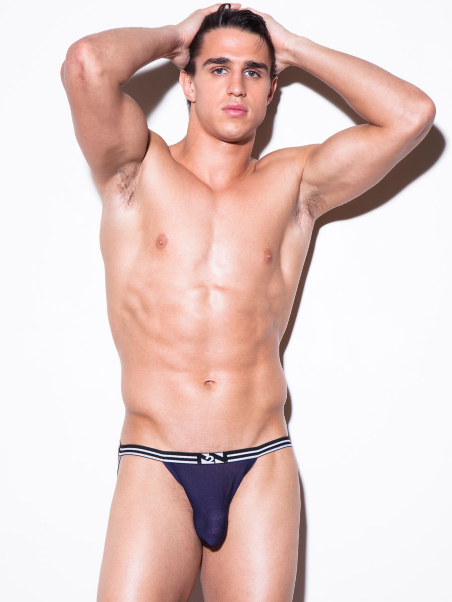 N2N Bodywear Air Navy Jock Made in USA *Free Shipping in USA*Size L/XL