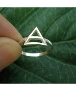 Sterling Silver 30 Thirty Seconds to Mars Geometric Triangle Ring Jewelry - $40.00