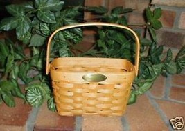 Longaberger Medium Basket Tour II Hand Made W Plastic Protector New - $26.68