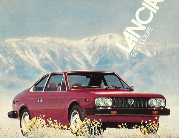 1979 Lancia BETA COUPE sales brochure sheet US 79 Fiat