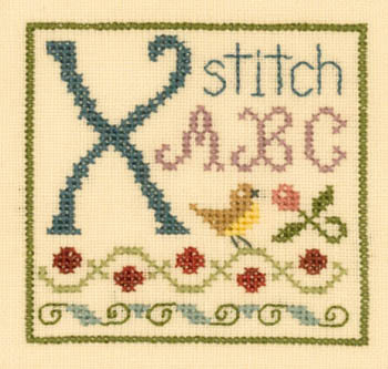 Primary image for X is for Xstitch SC36 mini cross stitch chart Elizabeth's Designs