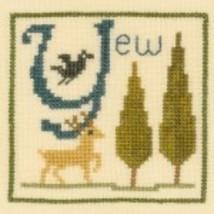 Y is for Yew SC37 mini cross stitch chart Elizabeth's Designs  - $3.60