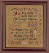Antique Songbird Sampler cross stitch chart Elizabeth's Designs  - $8.10