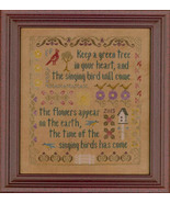 Antique songbird sampler thumbtall