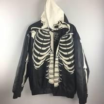 Vilanto Skeleton Leather Jacket L Large Black Skull Biker *Needs Zipper ... - $306.90