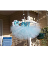 NEWBORN BABY GIRL ICE PRINCESS TUTU DRESS WITH ... - $22.00
