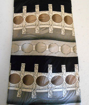 Bergamo New York 100% Silk Tie  Black Gray Tan ... - $9.89