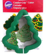 "Wilton Comfort Grip Christmas Tree Cookie Cutter Holiday Treats 5"" x 4.5... - $6.92"