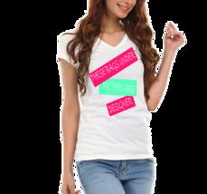 Bags,Designer, Funny Joke Ladies V-Neck T-Shirt  - $12.00