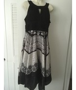 Womens Signature Dress By Sangria Black & White... - $19.99