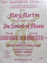 """My Favorite Things From """"The Sound of Music"""" [Sheet music] by Oscar Hammerste... - $9.54"""