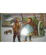 Playtime Classic Gold Winter Snow 1000 Piece Puzzle New Sealed - $13.09