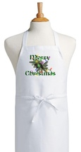 Merry Christmas Chef Apron For Holiday Cooking, Christmas Aprons For Adults - $9.85