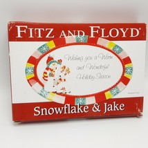 Fitz Floyd Sentiment Tray Christmas Snowflake Jake Hostess Gift Snowman Reindeer - $13.21
