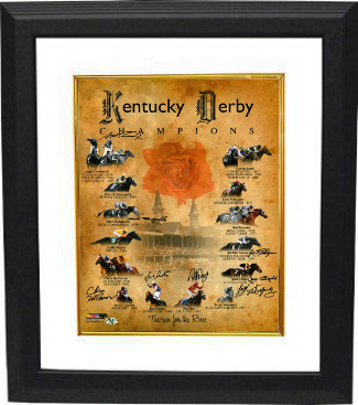 Primary image for Chris McCarron signed Kentucky Derby Champions Churchill Downs Run for the Roses