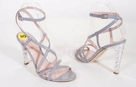 Kate Spade Fiandra Grey Crystal Dress Ankle Strap Sandals Shoes Heels Italy - $69.74