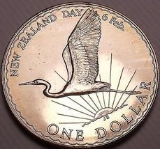Rare Gem Unc New Zealand 1974 Dollar~50,000 Minted~Great Egret~Excellent~Fr/Ship - $19.53